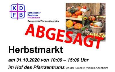 Absage Herbstmarkt